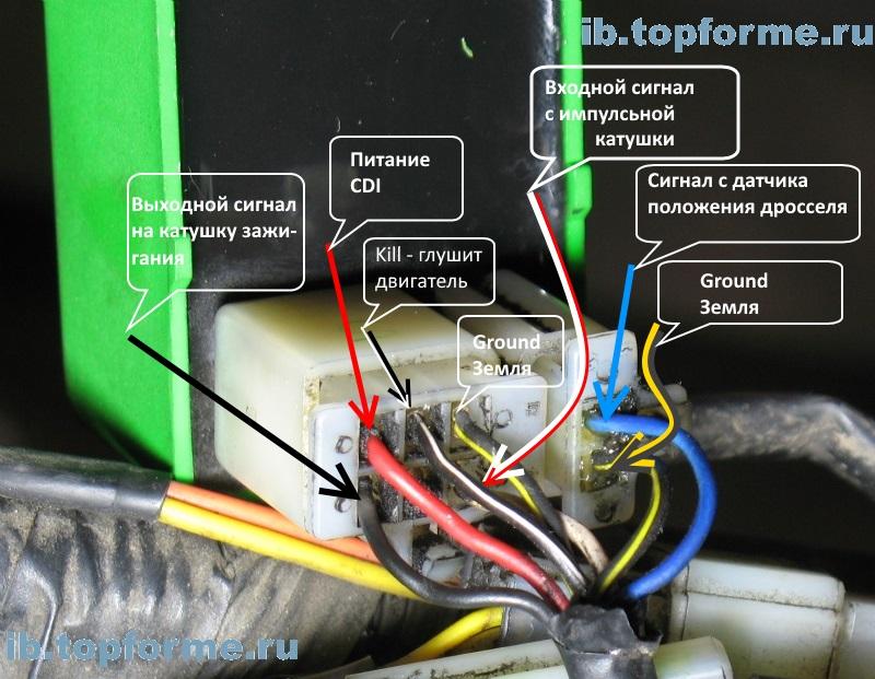 Сигналы на блоке AC-CDI Bajaj Boxer MB150