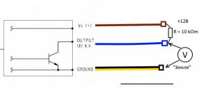 Bajaj Boxer схема измерения сигнала с датчика дроссельной заслонки