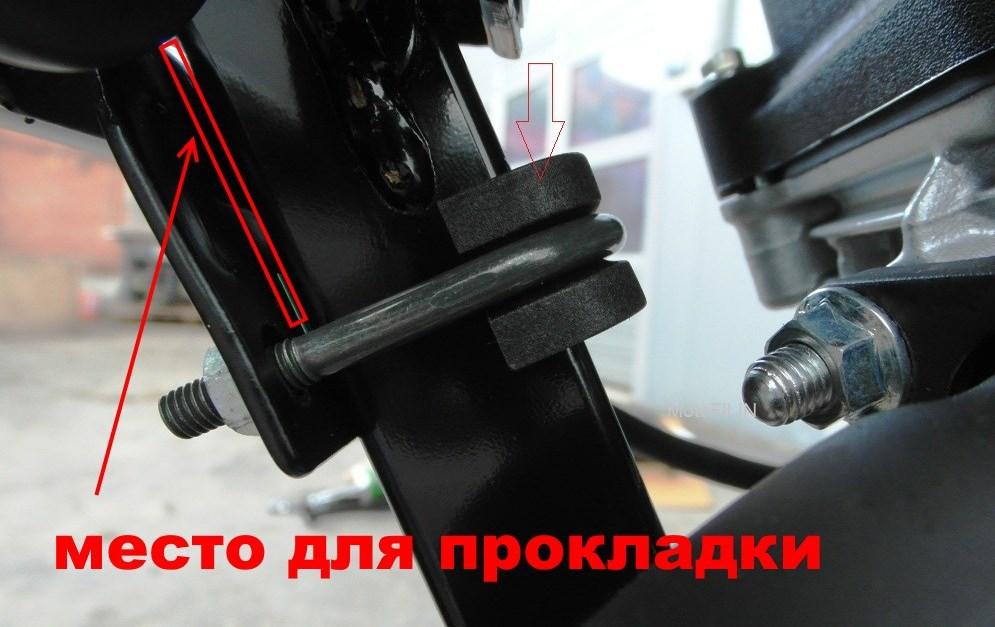 Резонирующий язык крепления дуг безопасности Bajaj Boxer BM 150