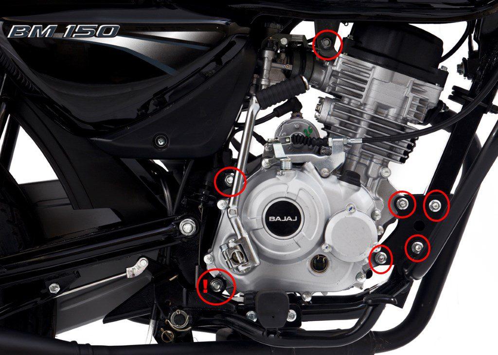 Крепеж двигателя Bajaj Boxer 150