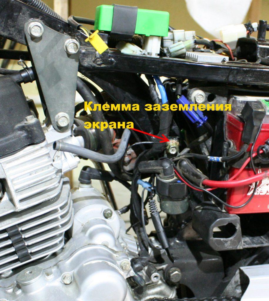 Модифицированная проводка генератора.