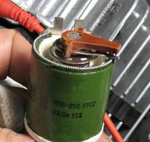 Переменный резистор 33 Ом.