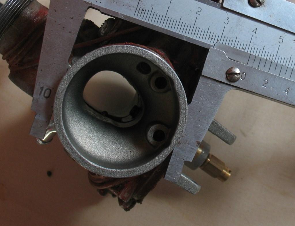 Bajaj Boxer 150, Диаметр входного фланца карбюратора