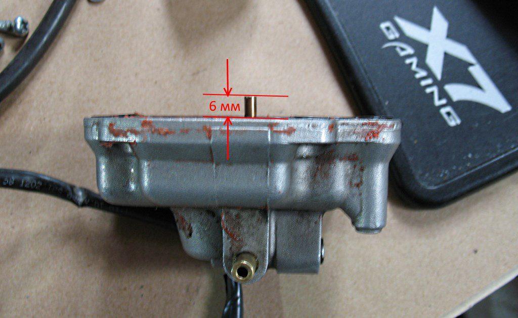 Штатная переливная трубка 6 мм